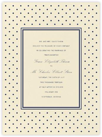 La Pavillion I (Invitation) - Navy - kate spade new york -