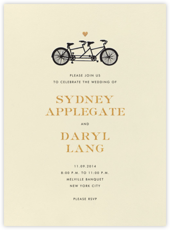 Tandem I (Invitation) - kate spade new york - Kate Spade invitations, save the dates, and cards