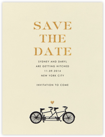 Tandem I (Save the Date) - kate spade new york - Save the dates