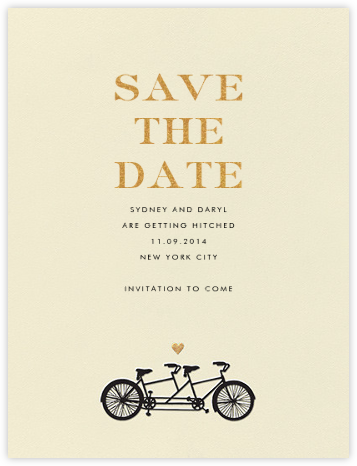 Tandem I (Save the Date) - kate spade new york - Gold and metallic save the dates