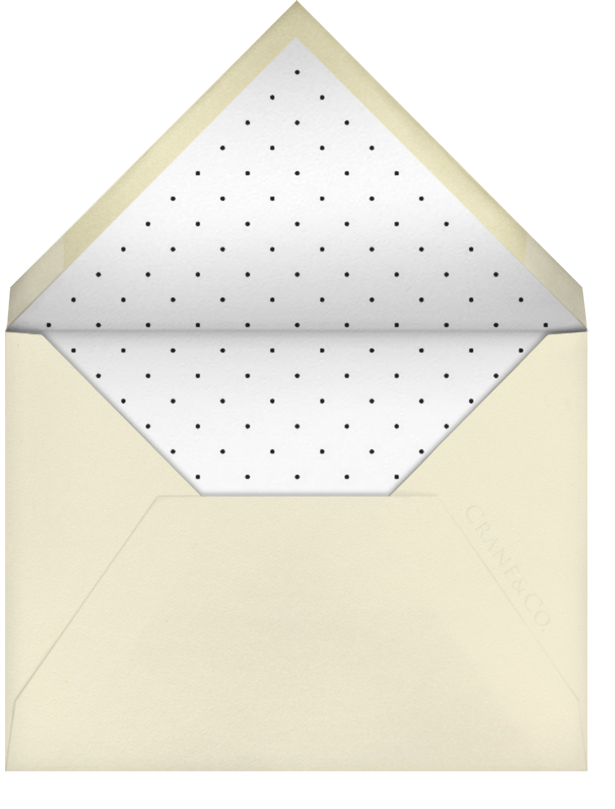 Tandem I (Save the Date) - kate spade new york - Gold and metallic - envelope back