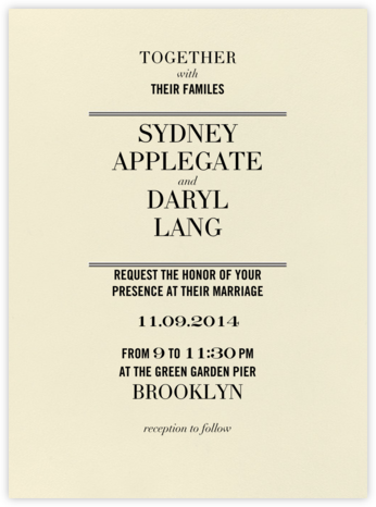 Typographic I - kate spade new york - Modern wedding invitations