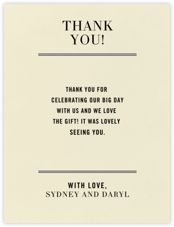 Typographic I (Thank You) - kate spade new york - General thank you notes