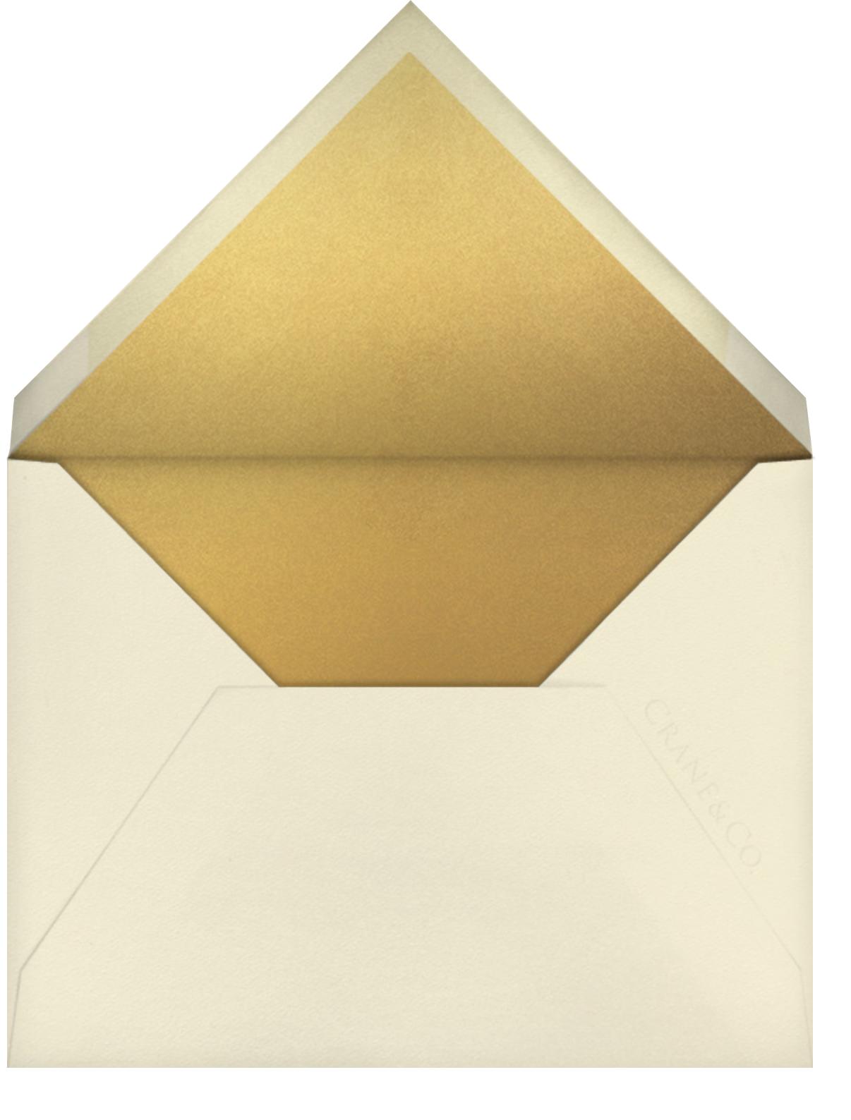 La Pavillion I (Save the Date) - Gold - kate spade new york - Party save the dates - envelope back