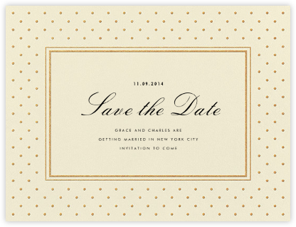 La Pavillion I (Save the Date) - Gold - kate spade new york - Save the dates