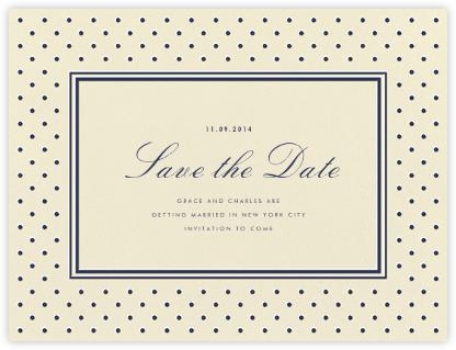La Pavillion I (Save the Date) - Navy - kate spade new york - Save the dates