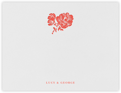 Audrey I (Thank You) - Geranium - Paperless Post - Personalized Stationery