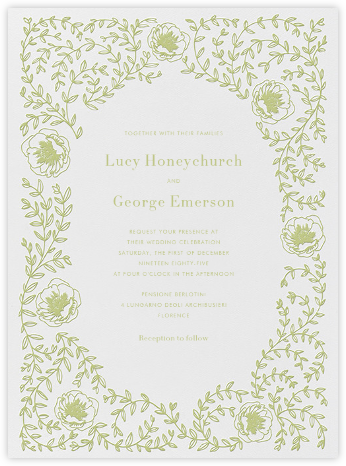 Sylvia I - Celery - Paperless Post - Wedding Invitations