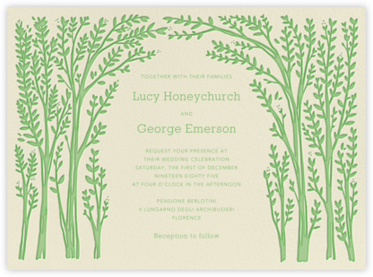 Louisa I - Spring Green - Paperless Post - Wedding invitations