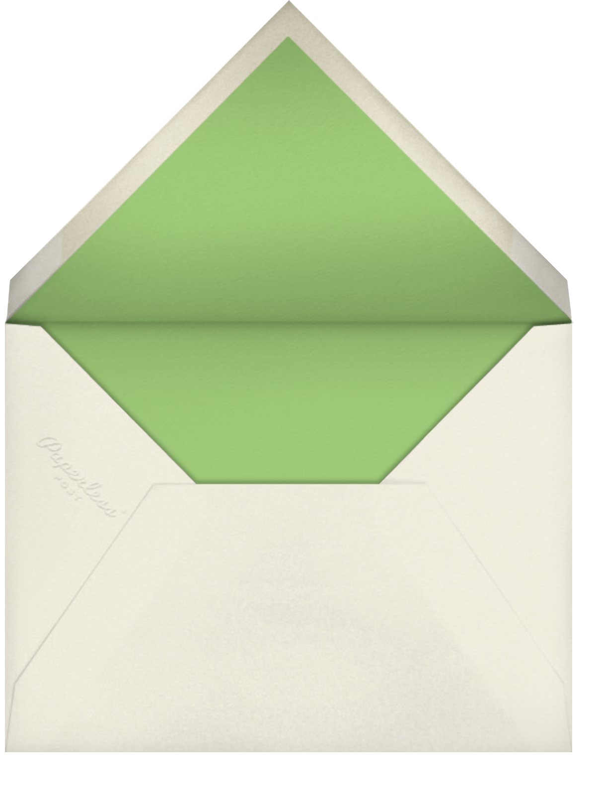 Louisa I (Thank You) - Spring Green - Paperless Post - Personalized stationery - envelope back