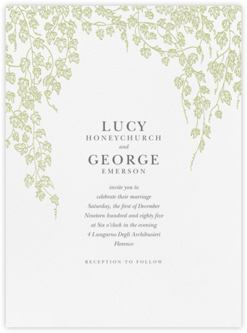 Gwendolyn I - Celery - Paperless Post - Destination wedding invitations