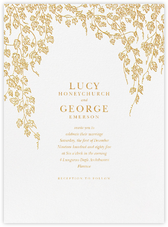 Gwendolyn I - Gold - Paperless Post - Printable Invitations