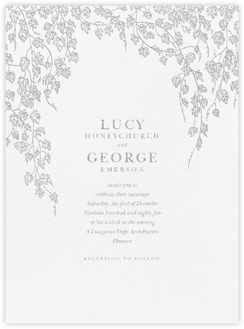 Gwendolyn I - Platinum - Paperless Post - Wedding invitations