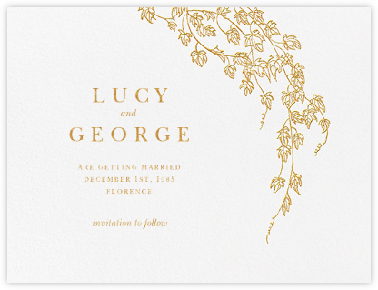 Gwendolyn I (Save The Date) - Gold - Paperless Post - Gold and metallic save the dates