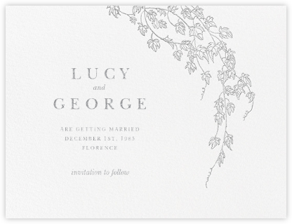 Gwendolyn I (Save The Date) - Platinum - Paperless Post - Save the dates