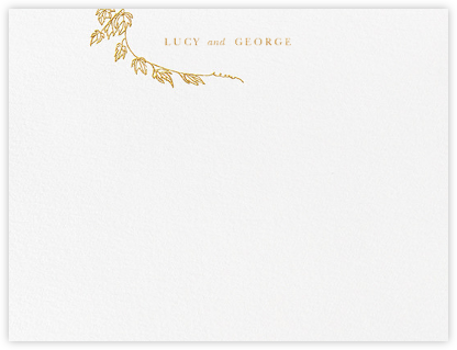 Gwendolyn I (Thank You) - Gold - Paperless Post - Personalized Stationery