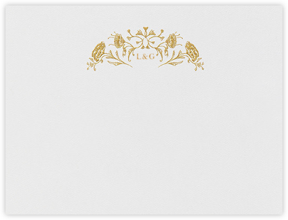 Grace I (Thank You) - Gold - Paperless Post - Personalized Stationery