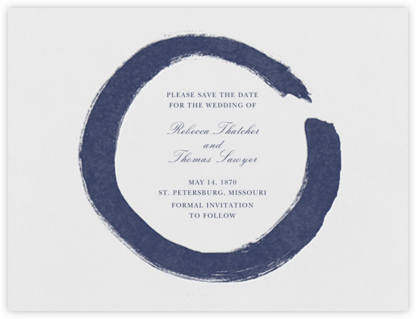 Gesso I (Save the Date) - Navy Blue | null