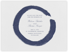 Gesso I (Save the Date) - Navy Blue