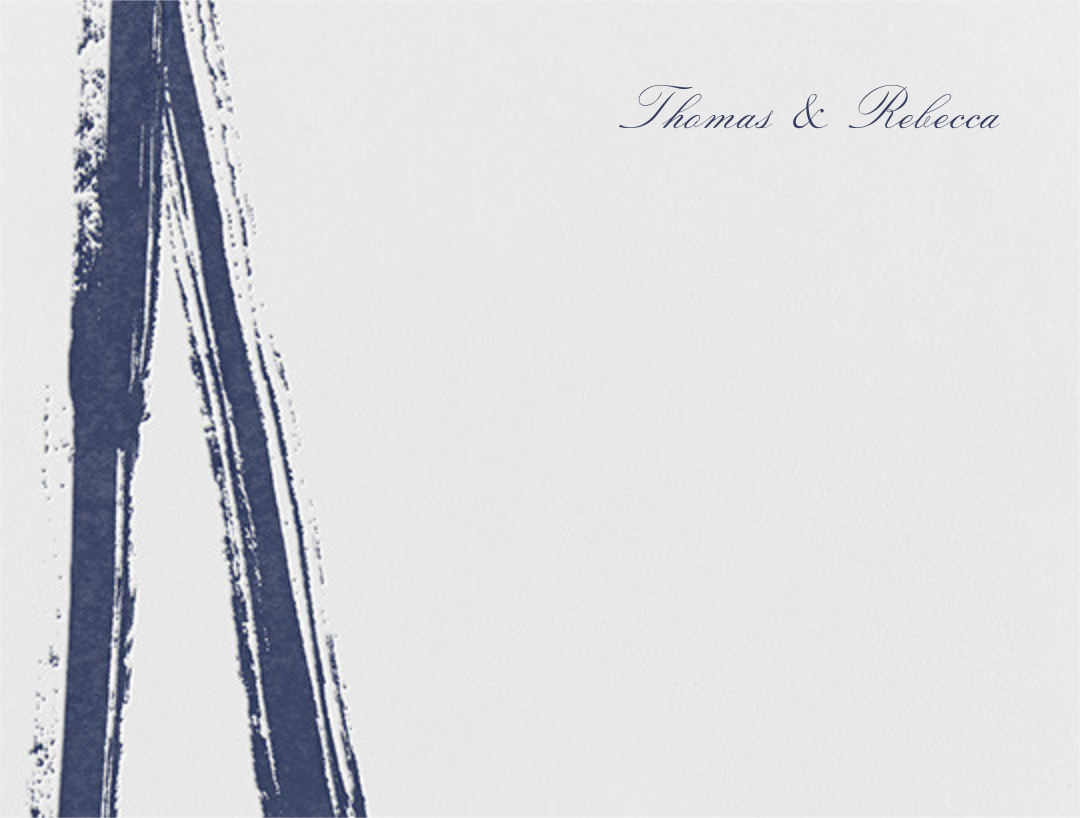 Gesso I (Thank You) - Navy Blue - Paperless Post - Stationery