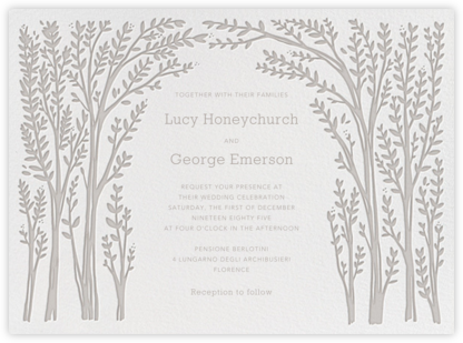 Louisa I - Taupe - Paperless Post - Wedding Invitations