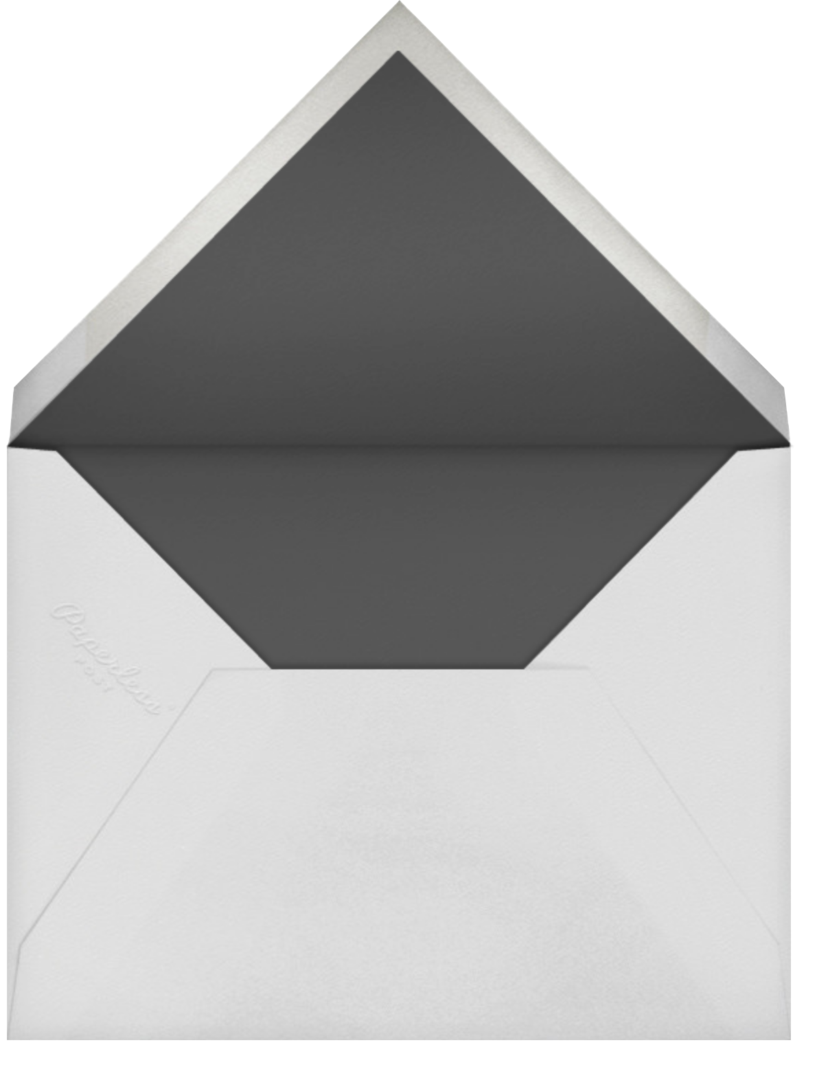 Louisa I (Thank You) - Taupe - Paperless Post - Personalized stationery - envelope back