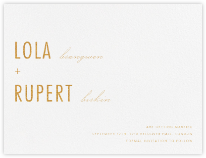Somme I - Gold - Paperless Post - Before the invitation cards