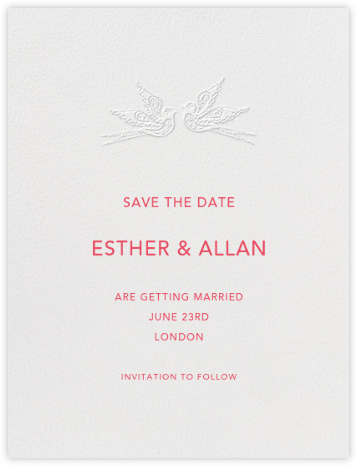 Marjorie I (Save the Date) - Blind Embossed | null