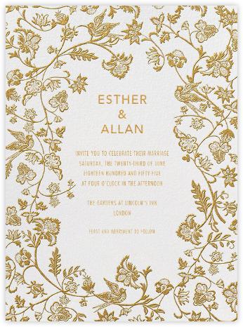 Marjorie I - Gold - Paperless Post - Romantic wedding invitations
