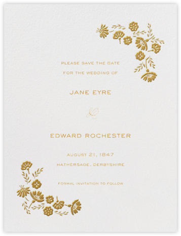 Marianne I (Save the Date) - Medium Gold - Paperless Post -