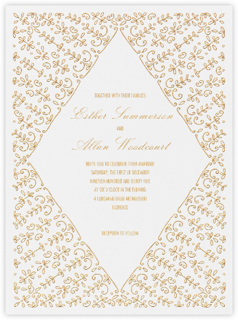 Kerala I - Gold - Paperless Post - Wedding invitations