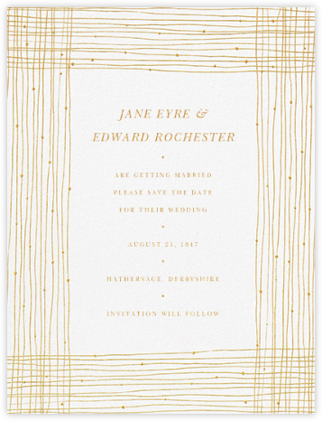 Quill I (Save the Date) - Medium Gold - Paperless Post -