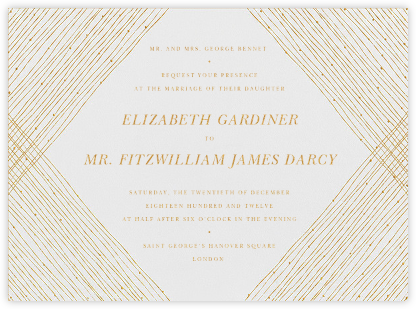 Quill I - Medium Gold - Paperless Post - Classic wedding invitations