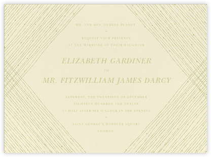 Quill I - Celery - Paperless Post - Wedding Invitations