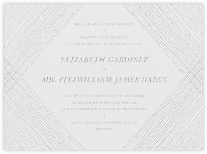 Quill I - Platinum - Paperless Post - Classic wedding invitations