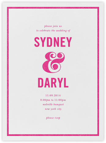 Ampersand (Invitation) - Raspberry - kate spade new york - Wedding invitations