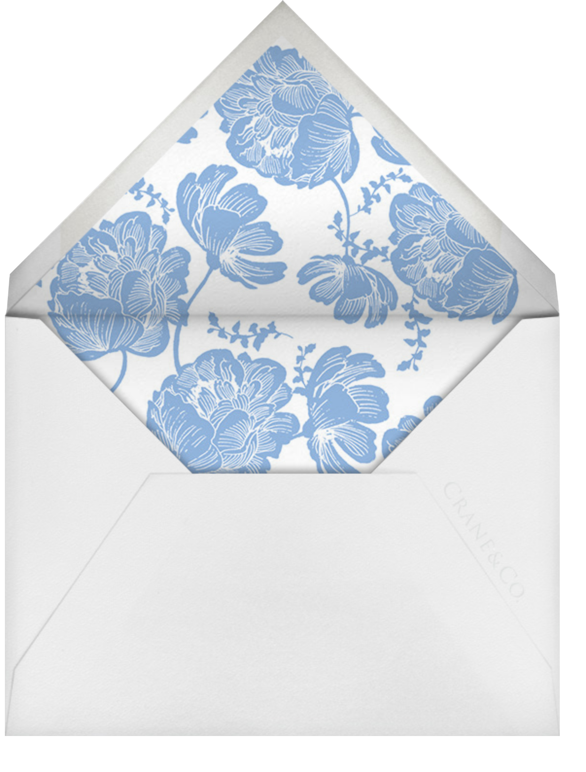 Audrey I (Thank You) - Newport Blue - Paperless Post - Personalized stationery - envelope back