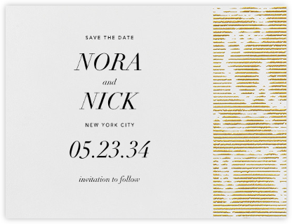 Moiré I (Save the Date) - Medium Gold | null