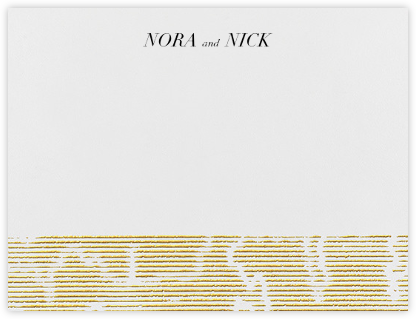 Moiré I (Thank You) - Medium Gold - Kelly Wearstler - Kelly Wearstler Stationery