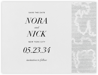 Moiré I (Save the Date) - Platinum | null