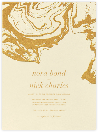Gala - Medium Gold - Kelly Wearstler - Modern wedding invitations