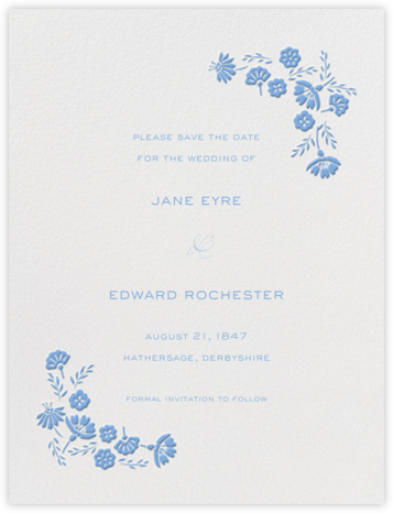 Marianne I (Save the Date) - Newport Blue - Paperless Post -