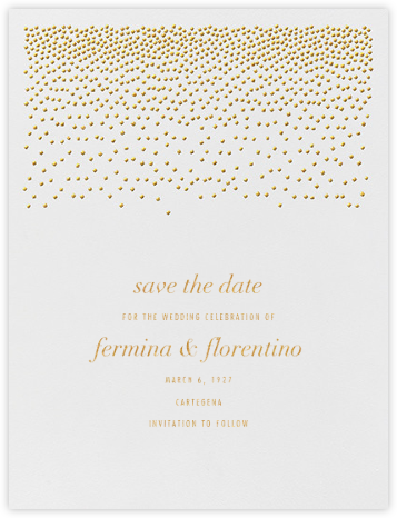 Jubilee I (Save the Date) - Medium Gold - Kelly Wearstler - Save the dates