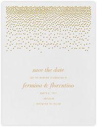 Jubilee I (Save the Date) - Medium Gold