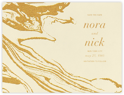 Gala (Save the Date) - Medium Gold - Kelly Wearstler - Modern save the dates