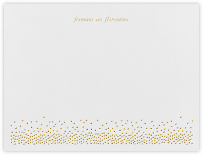 Jubilee I (Stationery) - Medium Gold - Kelly Wearstler - Personalized Stationery
