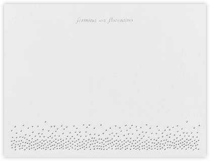 Jubilee I (Stationery) - Platinum - Kelly Wearstler - Personalized Stationery