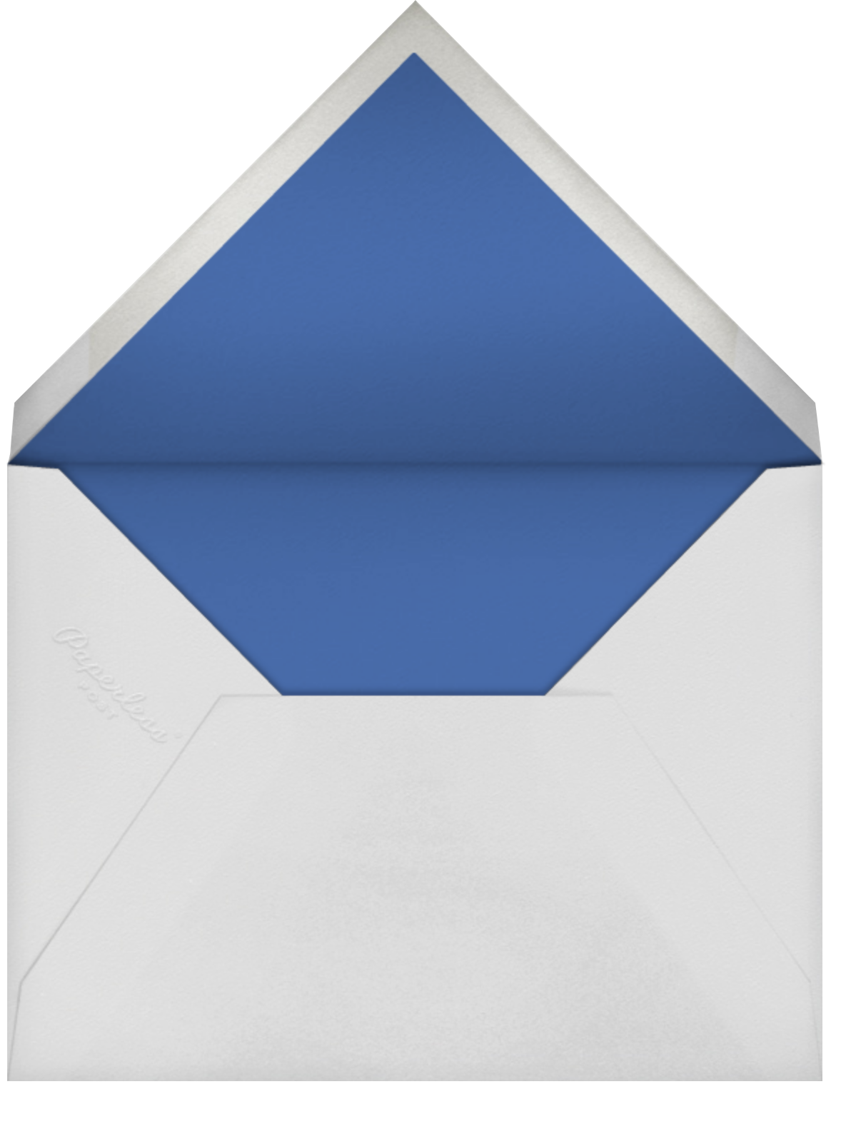 Floral Trellis I (Stationery) - Regent Blue - Oscar de la Renta - Personalized stationery - envelope back