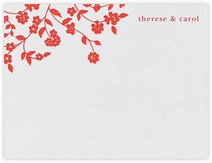 Floral Trellis I (Stationery) - Geranium - Oscar de la Renta -