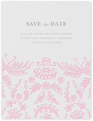 Brushed Lace - Peony Pink (Save the Date) - Oscar de la Renta -